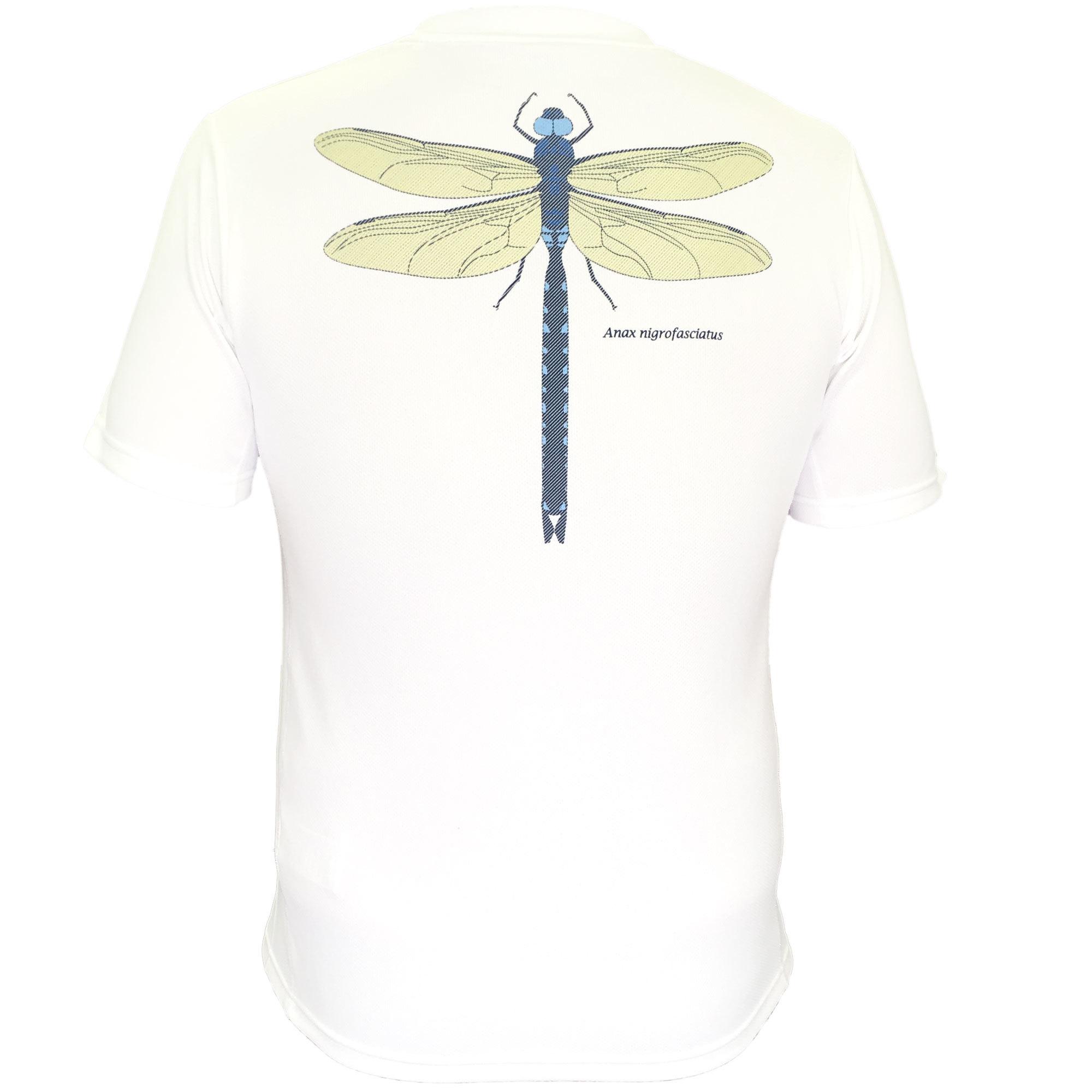 P818TSM01 吸水速乾 UV メンズプリントTシャツ (ホワイト)