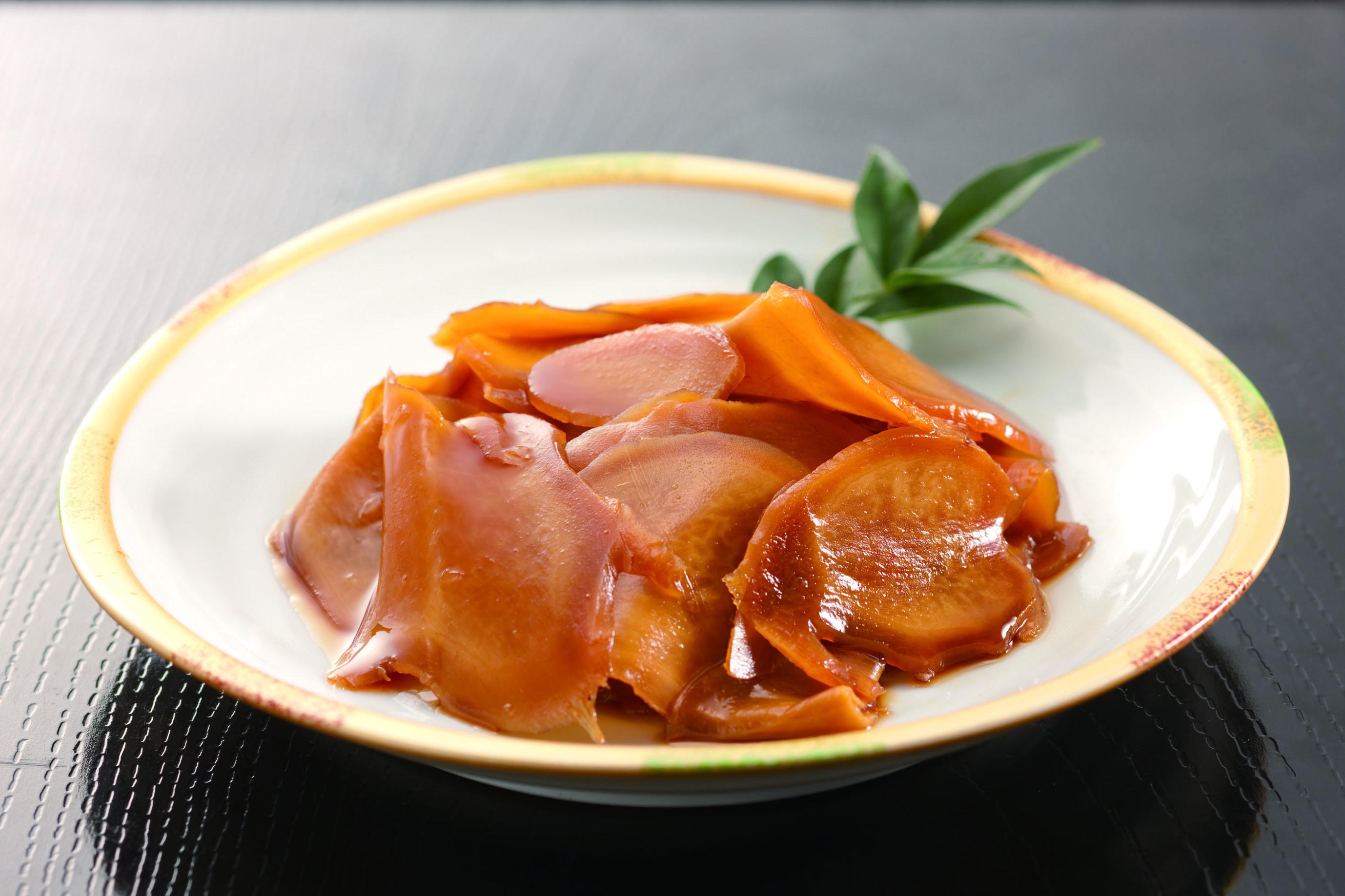 国産たまりしょうが!国産の生姜をスライスしたたまり漬けにしました!爽やかな味と香り!