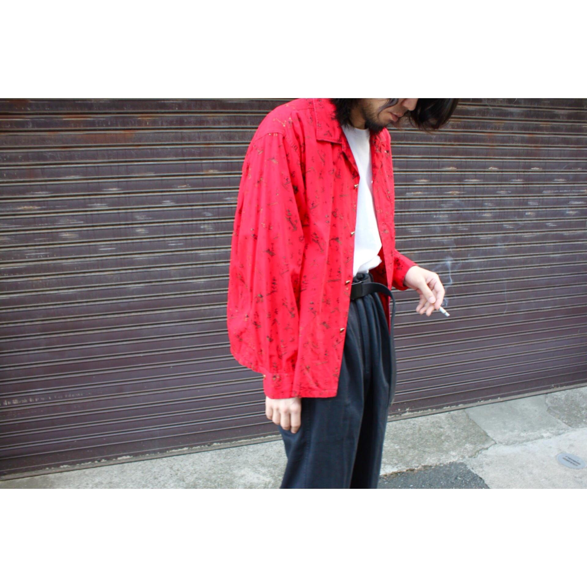 Vintage oriental pattern shirt