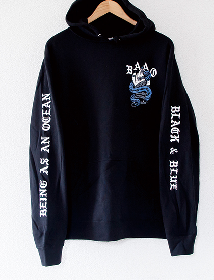 【BEING AS AN OCEAN】Black & Blue Hoodie (Black)