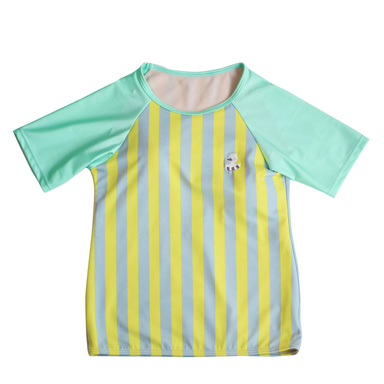 <単品> レディース レモン×グレーストライプTシャツ型水着 トップス WL-08T