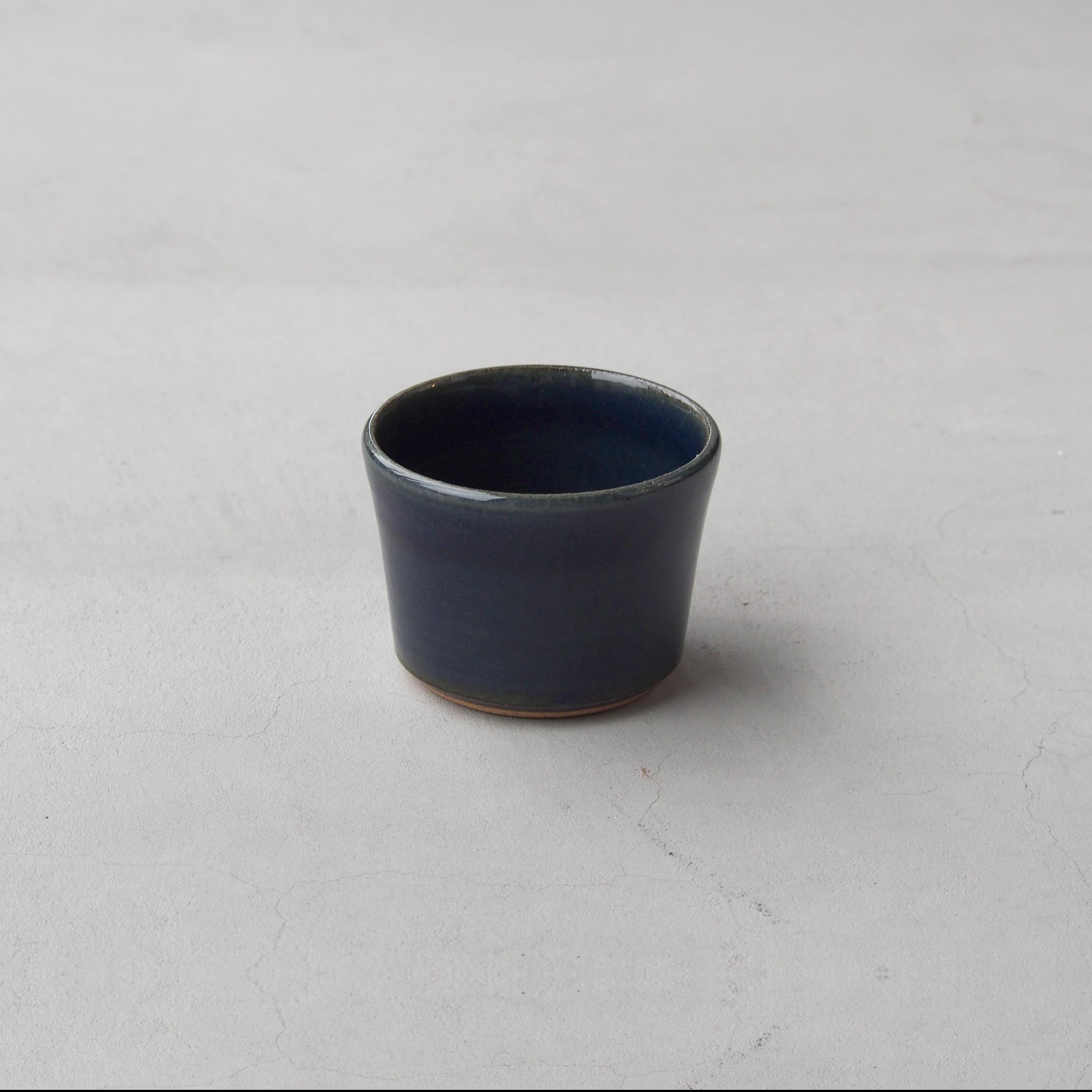 出西窯 深切立鉢3寸 青