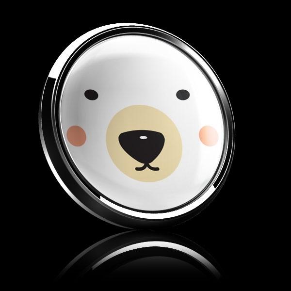 ゴーバッジ(ドーム)(CD0889 - Seasonal Polar Bear) - 画像4