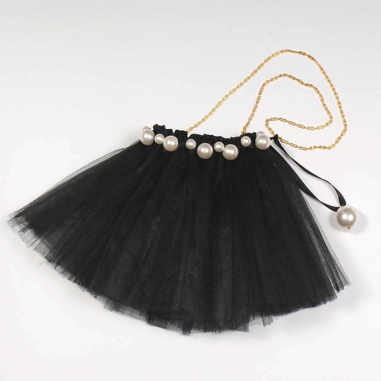 df20SS-FG03 PEARL FLACE BAG (black)