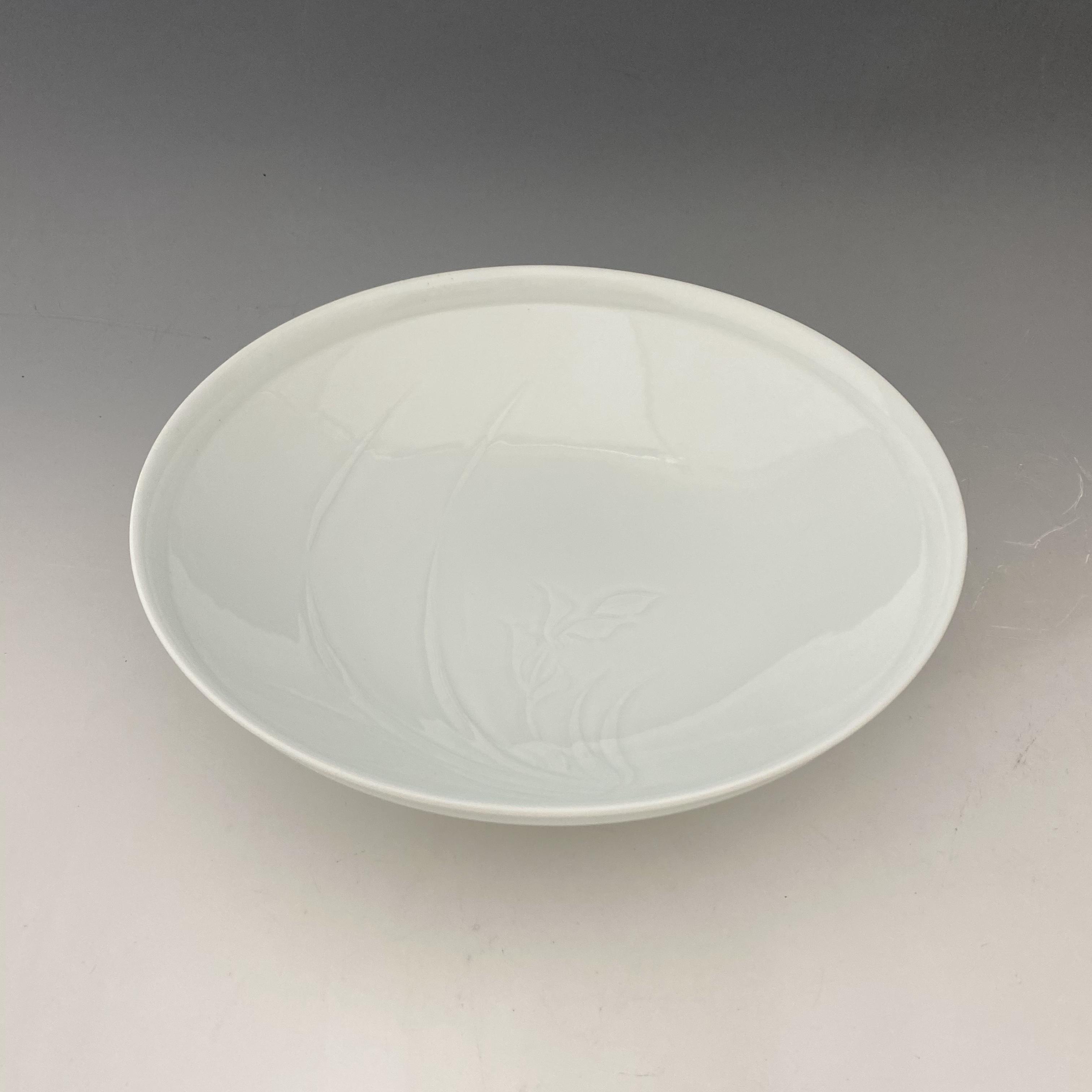【中尾恭純】白磁蘭彫鉢