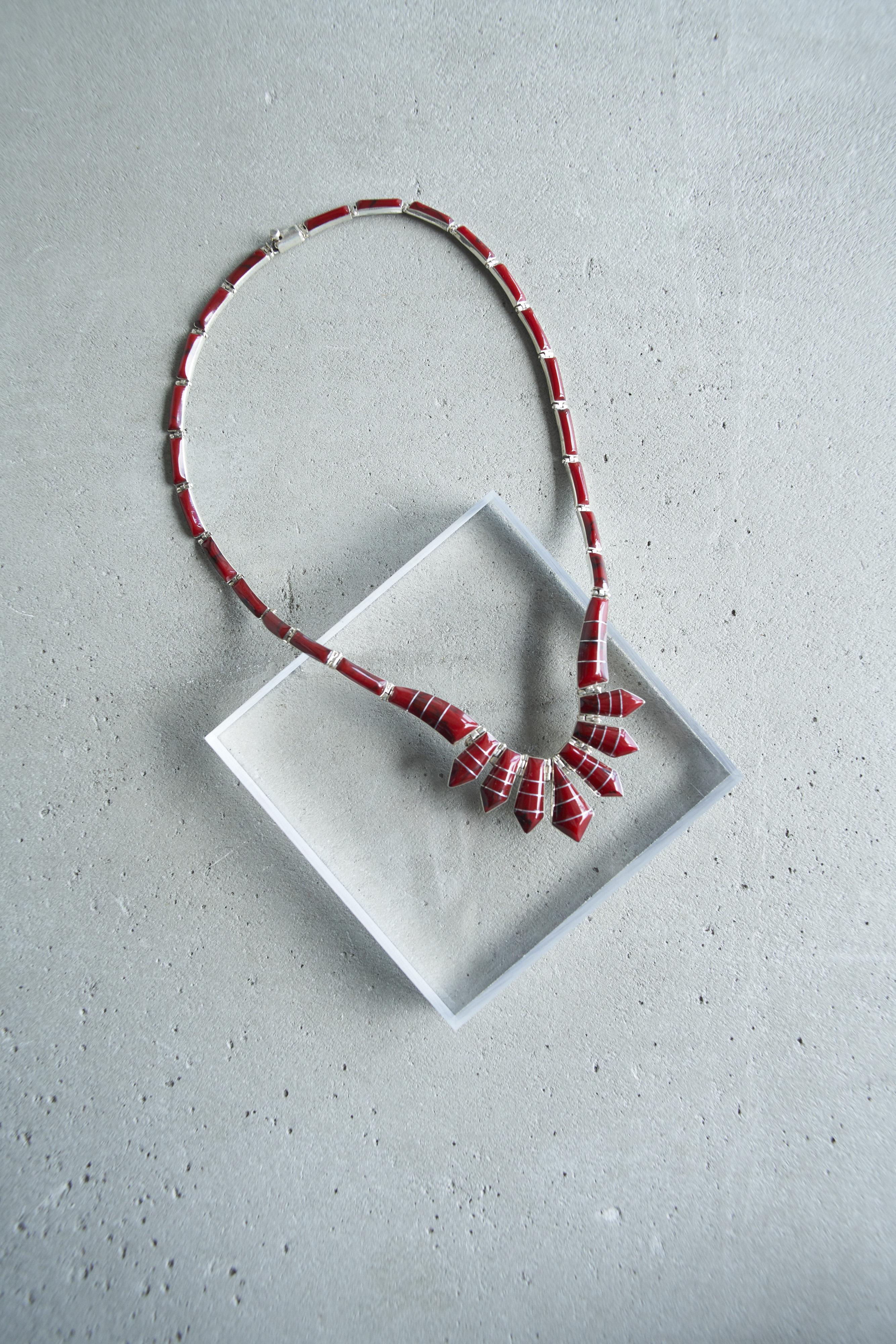 レッドマラカイト ネックレス