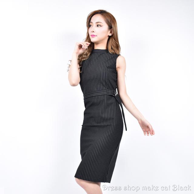 (フリーサイズ) ストライプ柄ワンピース・ミニワンピ・フォーマル・カジュアルに ¥5,713- (税込)  ドレス パーティー  009