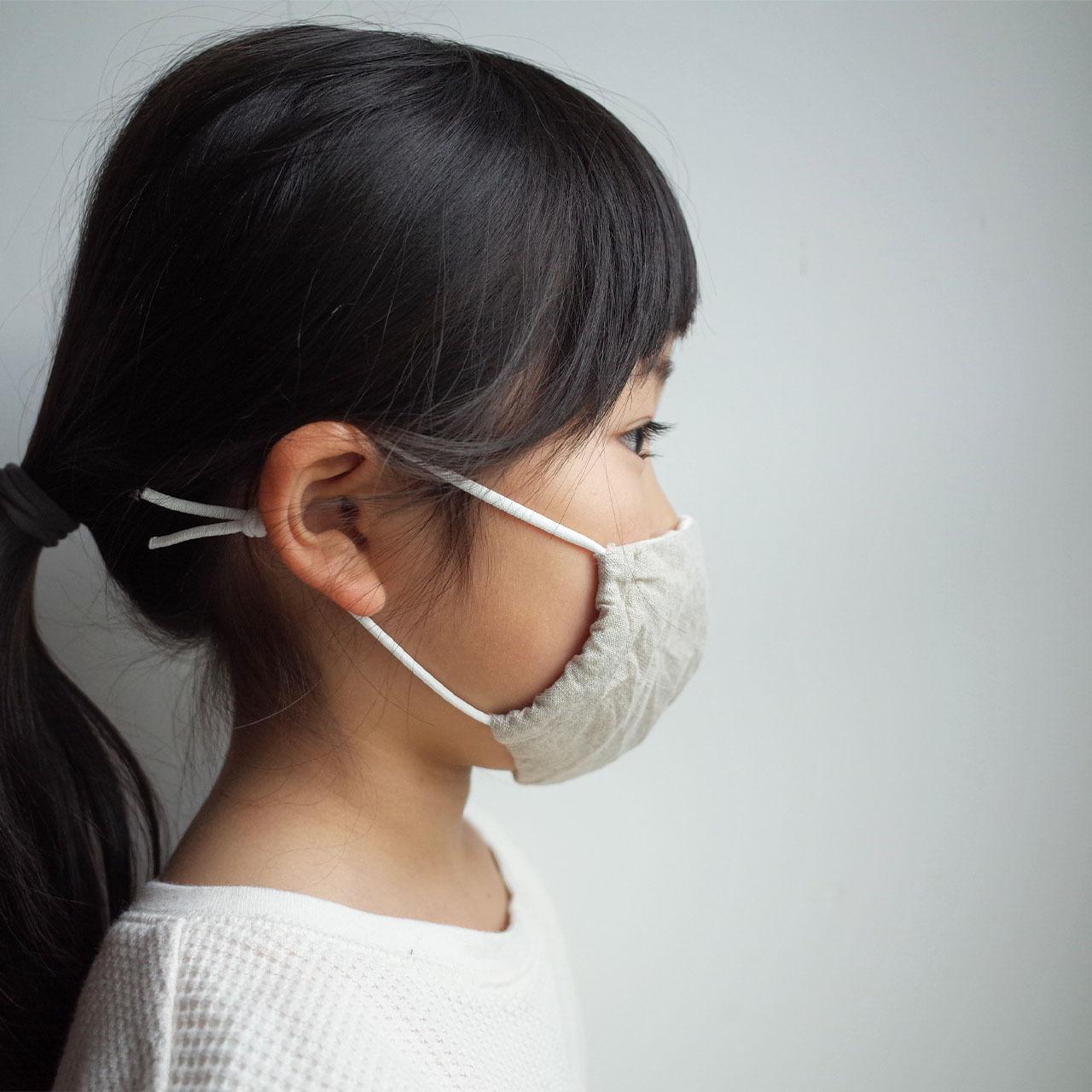 (子供用 Sサイズ)洗える刺繍生地のマスク kids   mask4
