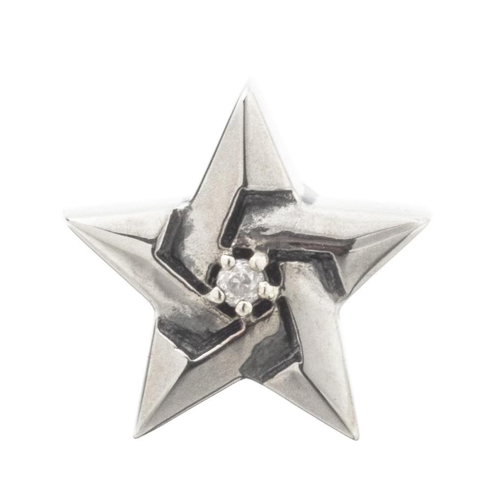 五芒星スタッドピアス 片耳分 AKE0093  Pentagram stud earrings  For one ear