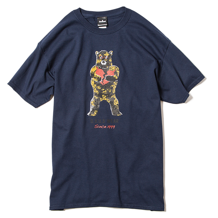 【Deviluse | デビルユース】Broken Bear T-shirts(Navy)