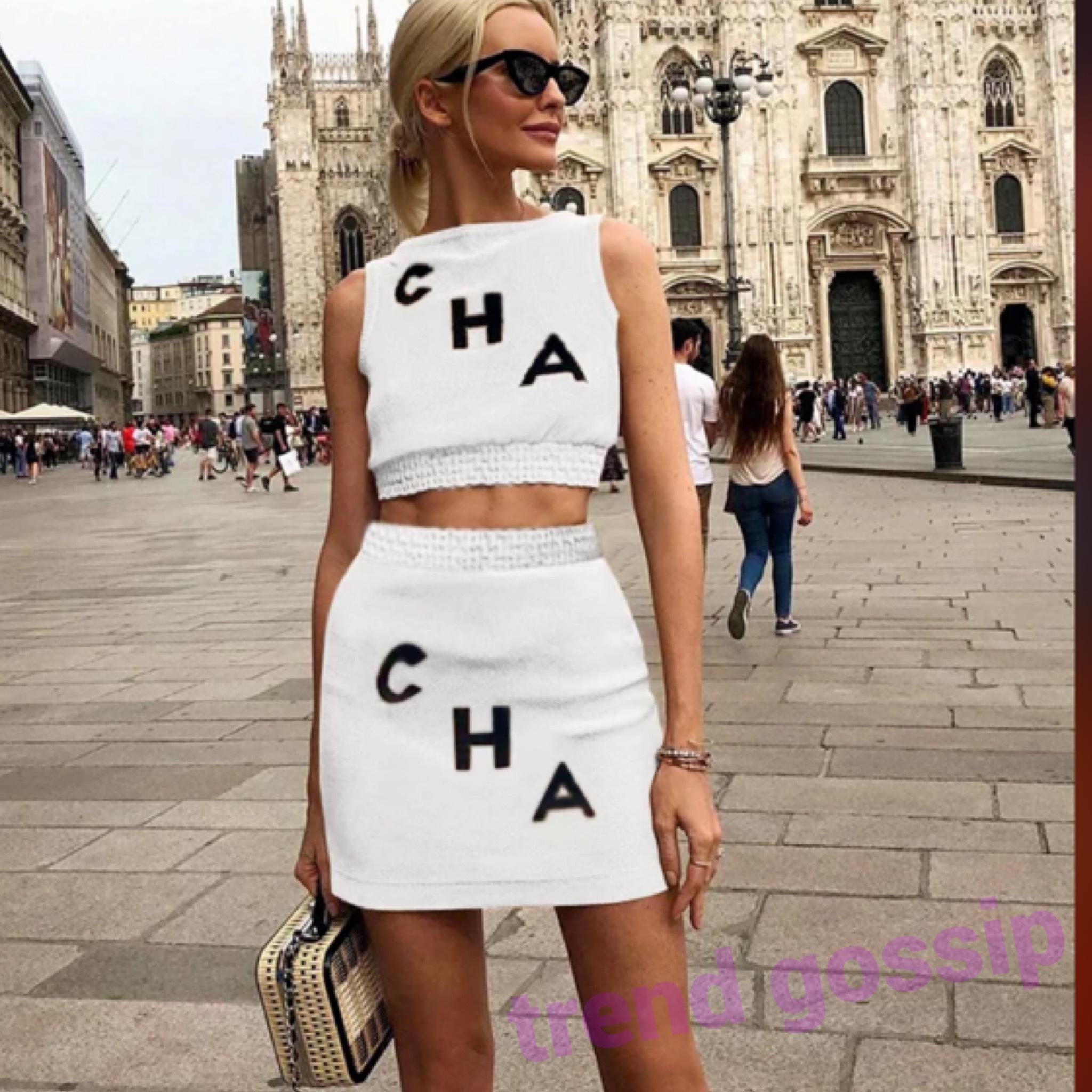 CHAロゴホワイトセットアップ/スカート