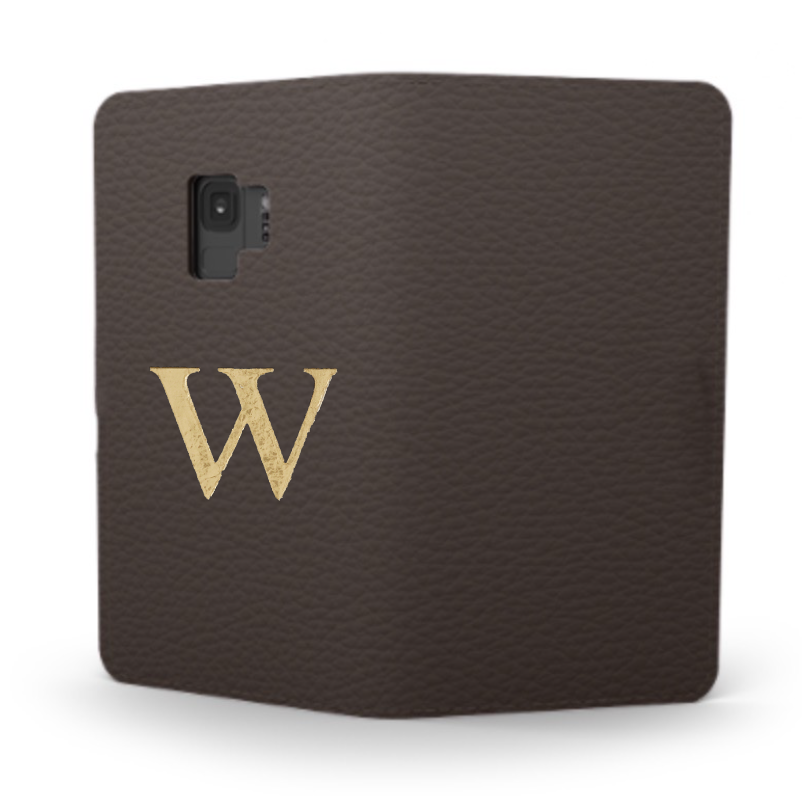 Galaxy Premium Shrink Leather Case (Cigar Brown)  : Book cover Type