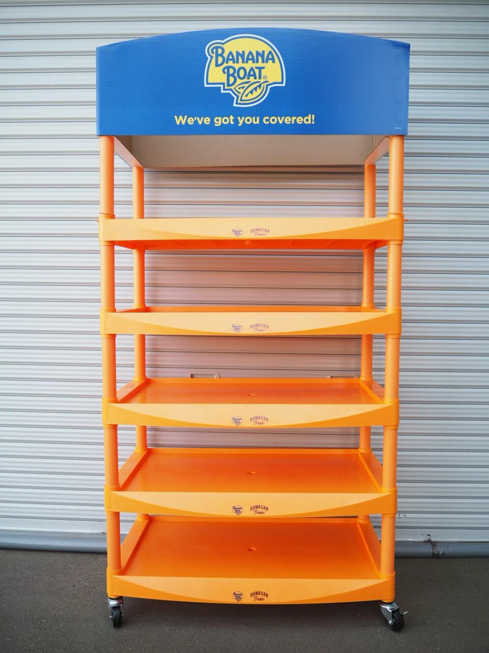 品番0458 新品 展示棚 オレンジ / Display shelf 011