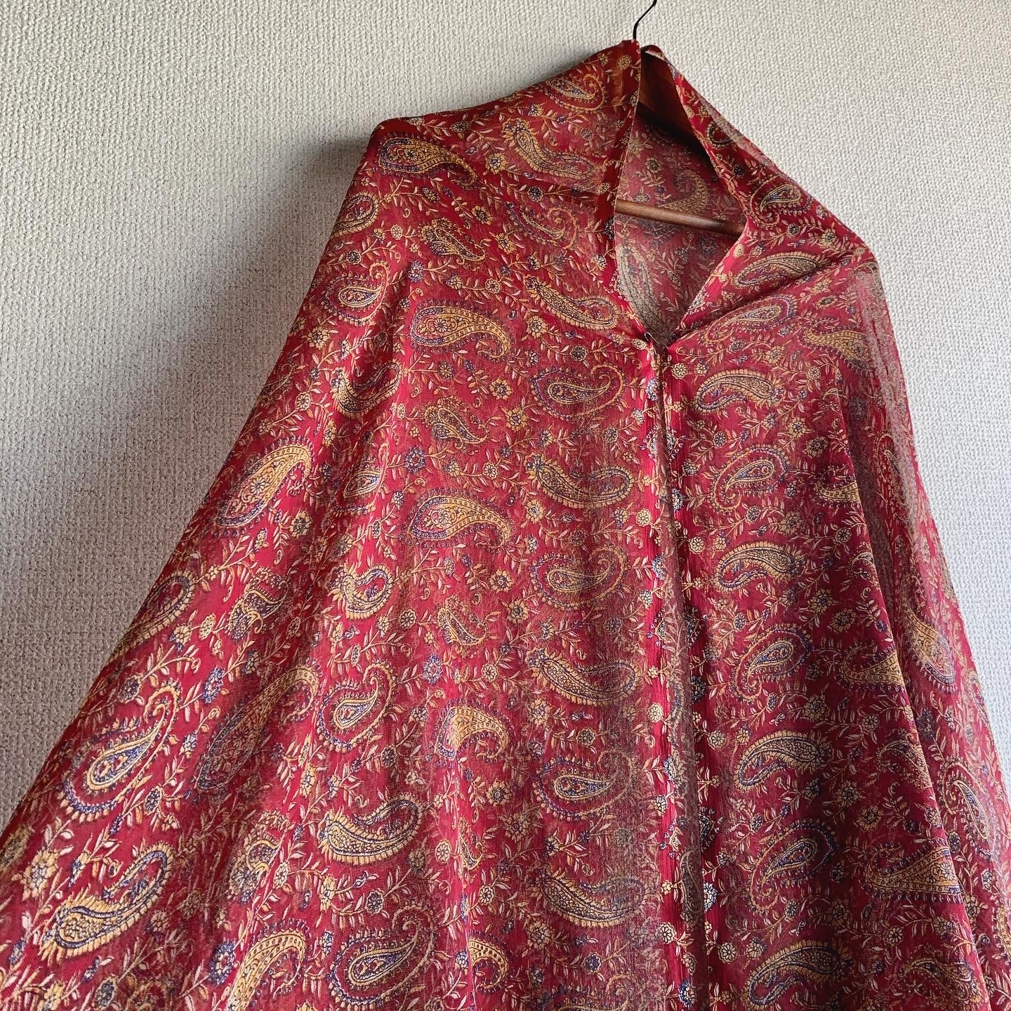 【SALE】vintage wide sized paisley stall