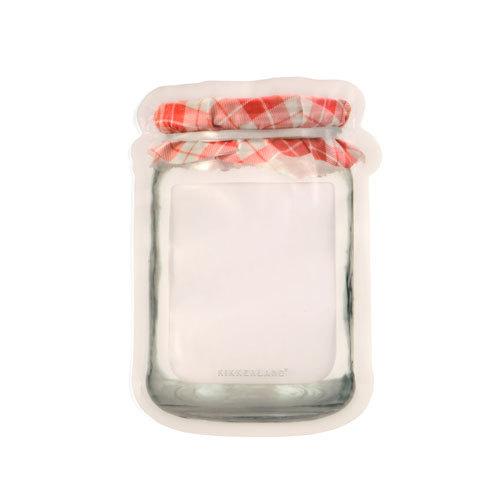 KIKKERLAND(キッカーランド)Jam Jar Zipper Bags L ジャムジャージッパーバッグ(L・2枚入り)