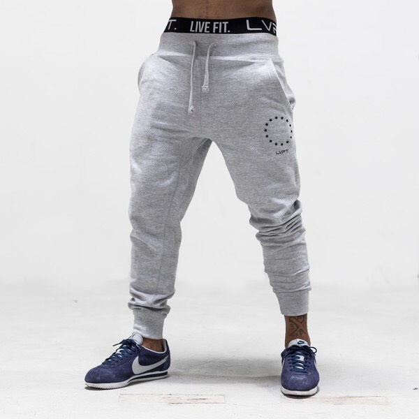 LIVE FIT  Jogger Sweat Pants - Grey SF400