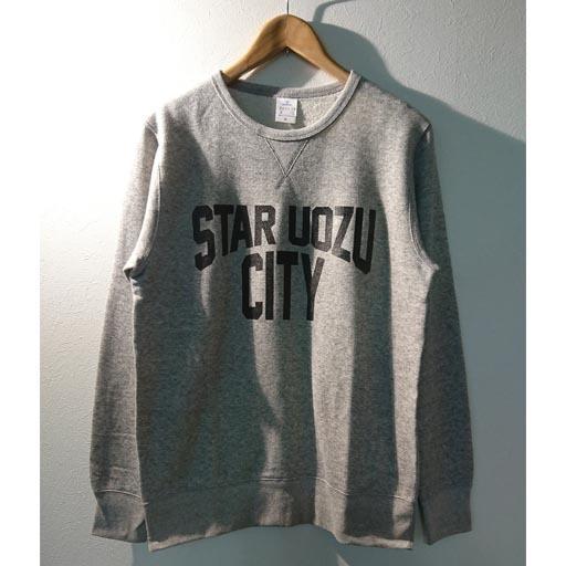 "STAR UOZU CITY ""vintage type"" トレーナー 【チャリTEE】"
