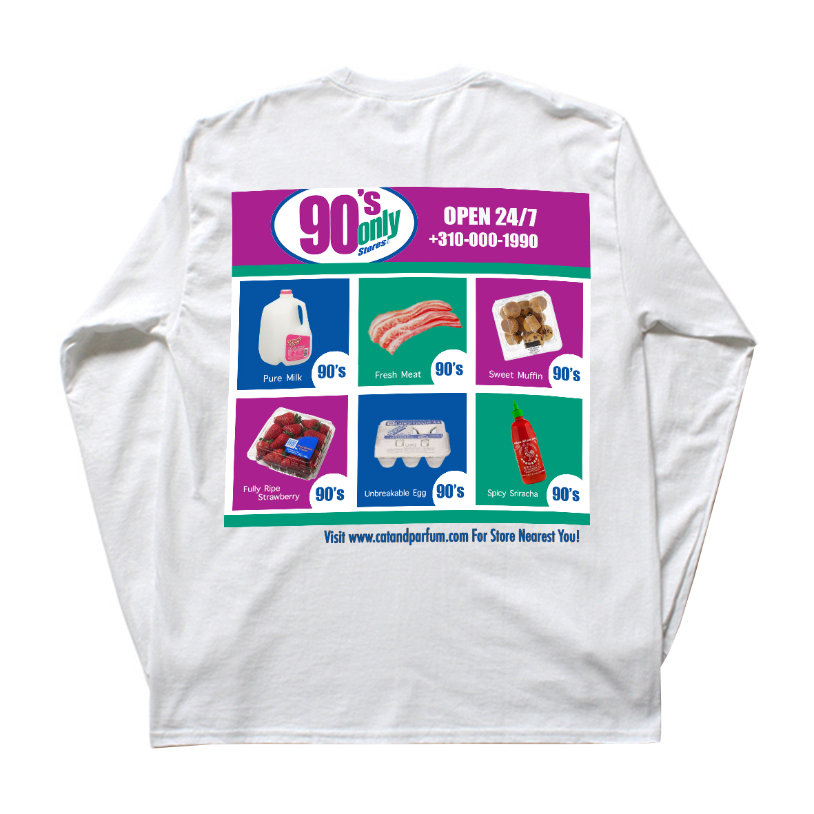 90's Only Store Graphic Long Sleeve