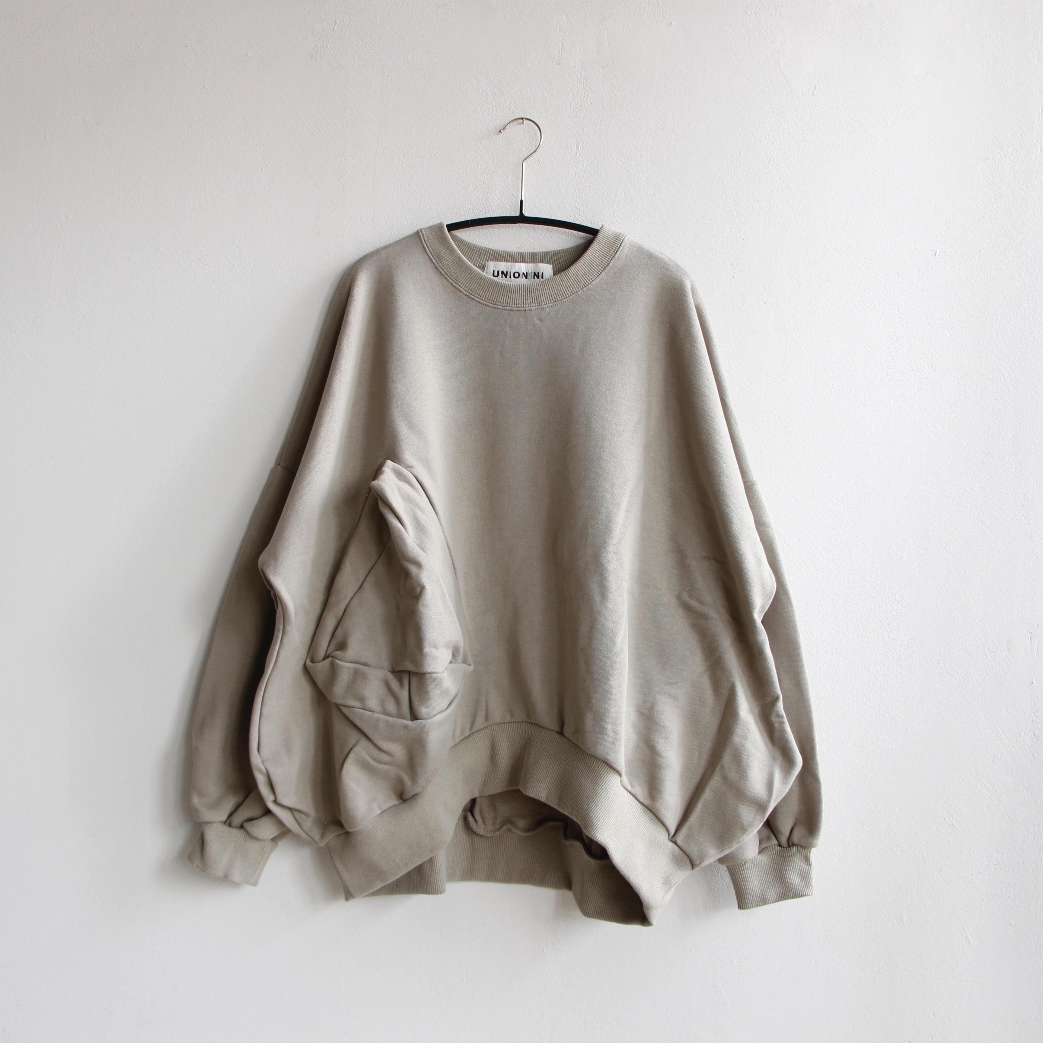 《UNIONINI 2020AW》◯△ sweat shirt / smokey green / S・M