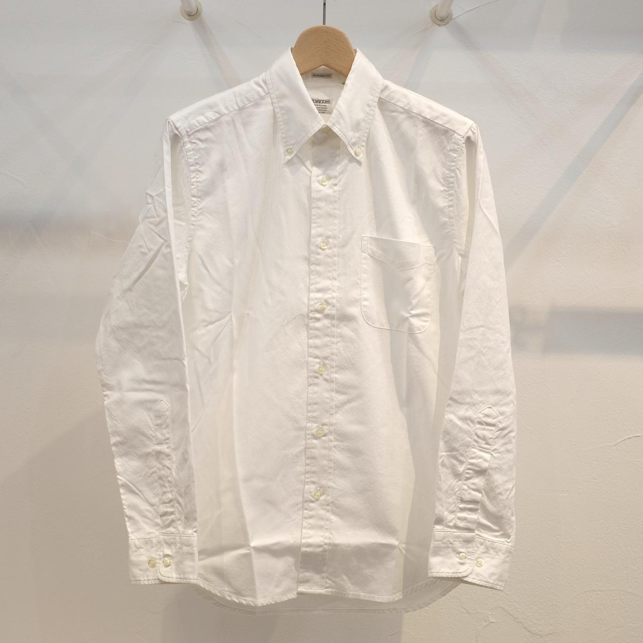 Workers(ワーカーズ) スーピマヘビーオックスボタンダウンシャツ ホワイト