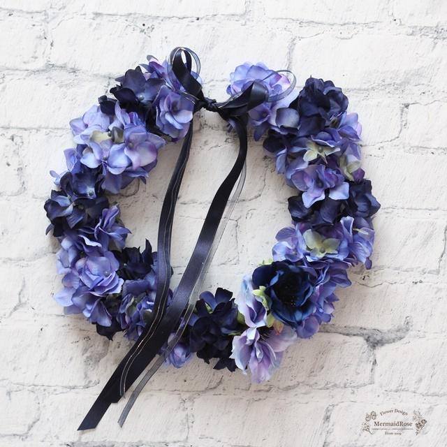 選べるカラー25色!アジサイとアネモネの花冠【花冠】