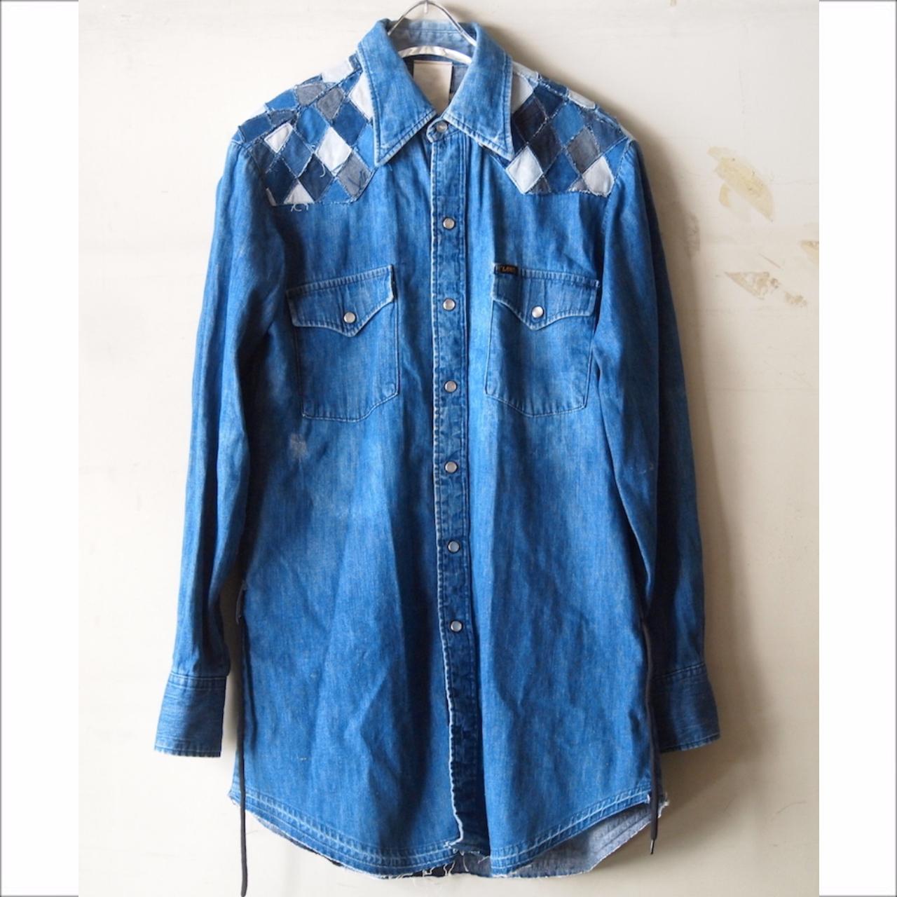 【sandglass】argyle denim shirt B / 【サンドグラス】アーガイル デニム シャツ ビー