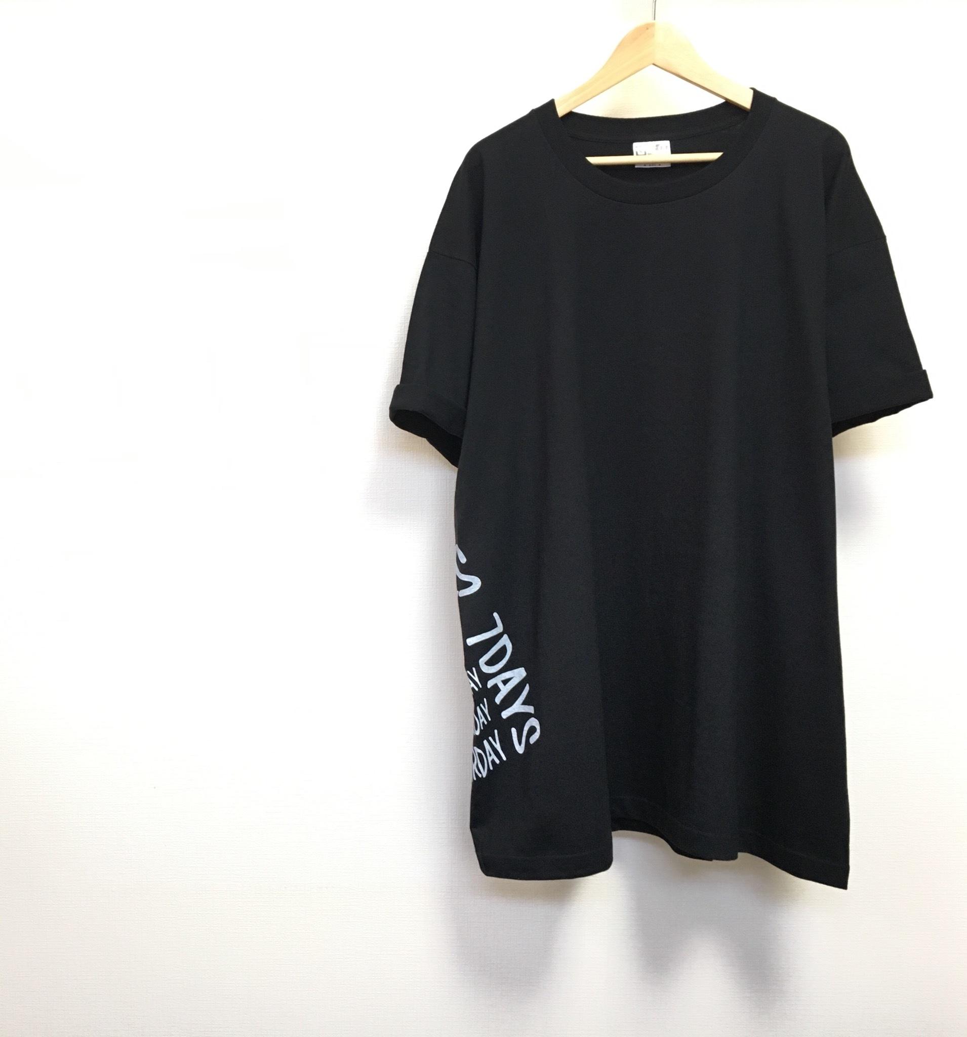 メンズ5XL!!着ると可愛い!超ビッグTシャツ(ブラック)/ おしゃれ 大きいサイズ 6L レディース チュニック 夏