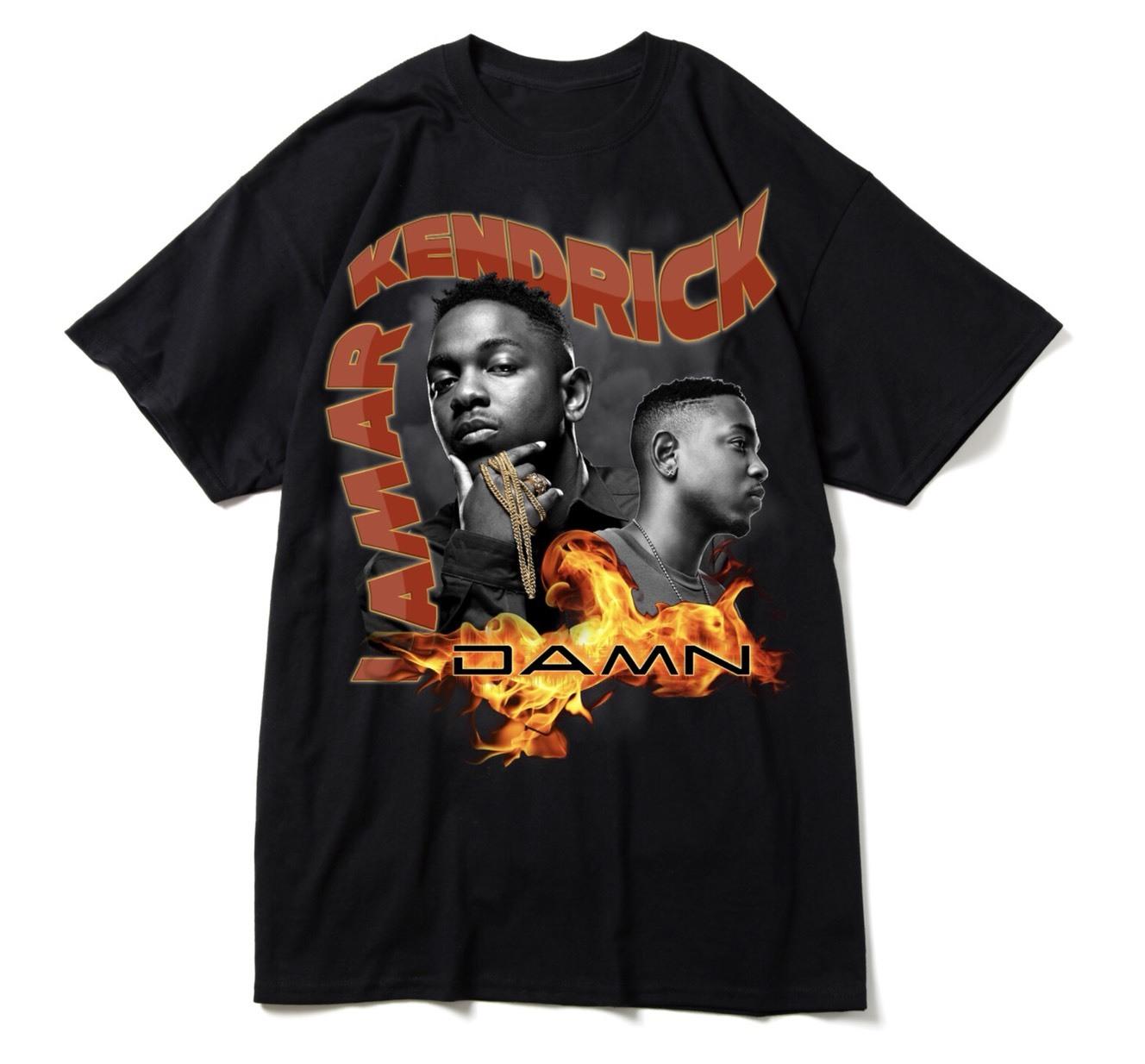 "BOOTLEG RAP T-Shirts ""KENDRICK LAMAR"" BLACK"