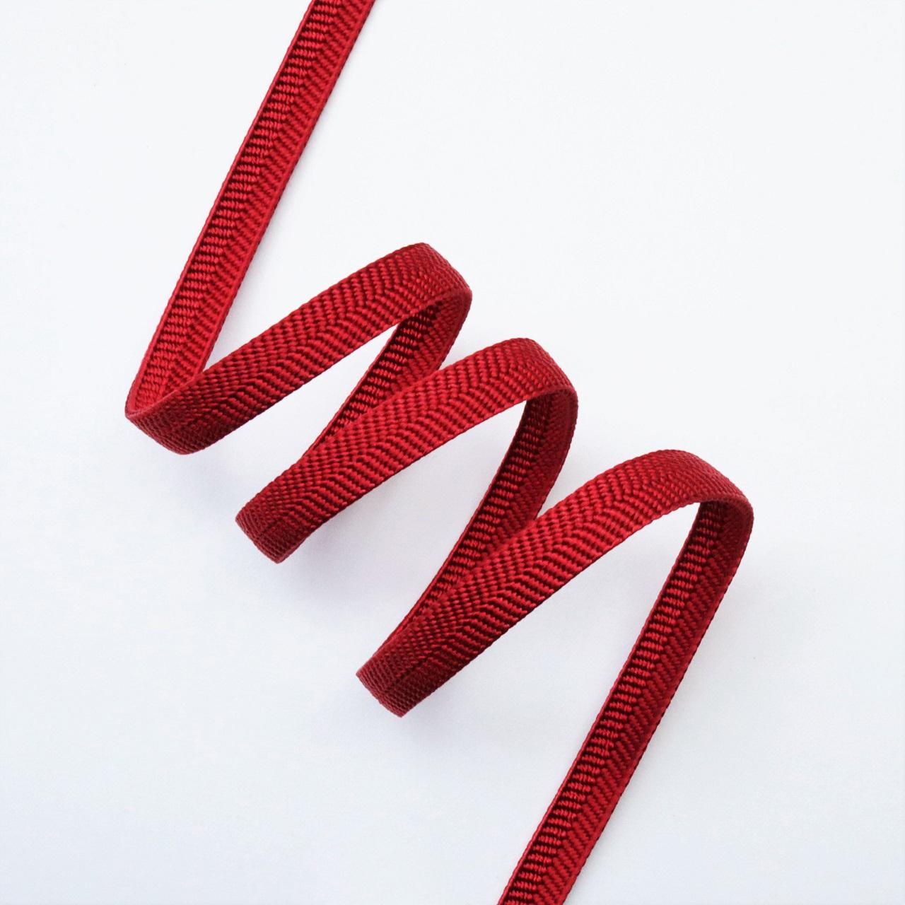 【帯締め】正絹三分紐 無地 えんじ色