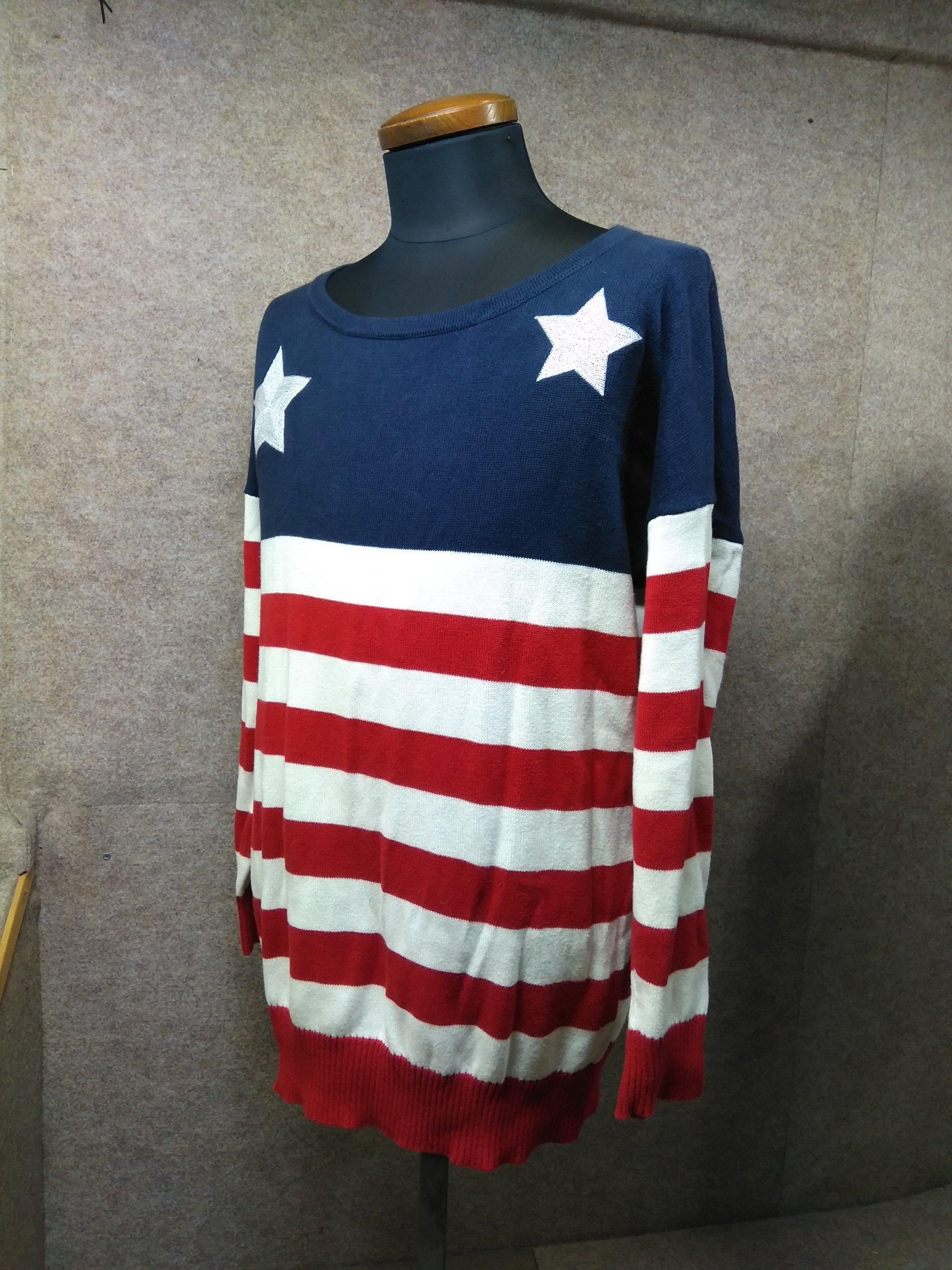 トミーヒルフィガー カットソー ニット 星条旗 USA アメリカ mh438s