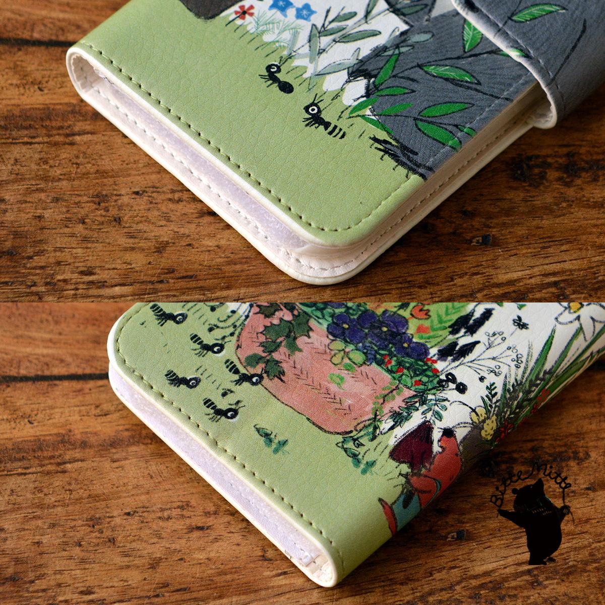 【訳あり】アイフォン6s ケース 手帳型 かわいい iphone6s ケース 手帳 大人かわいい iphone6s ケース 手帳 シンプル かわいい 森のガーデニング/Bitte Mitte!【bm-iph6t-10089-B1】