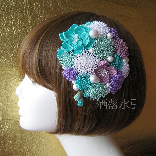 【受注販売品】水引とコットンパールのヘッドドレス