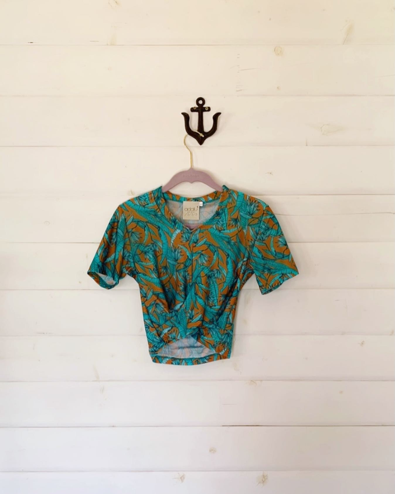 SABRINA CROP TOP TROPICAL