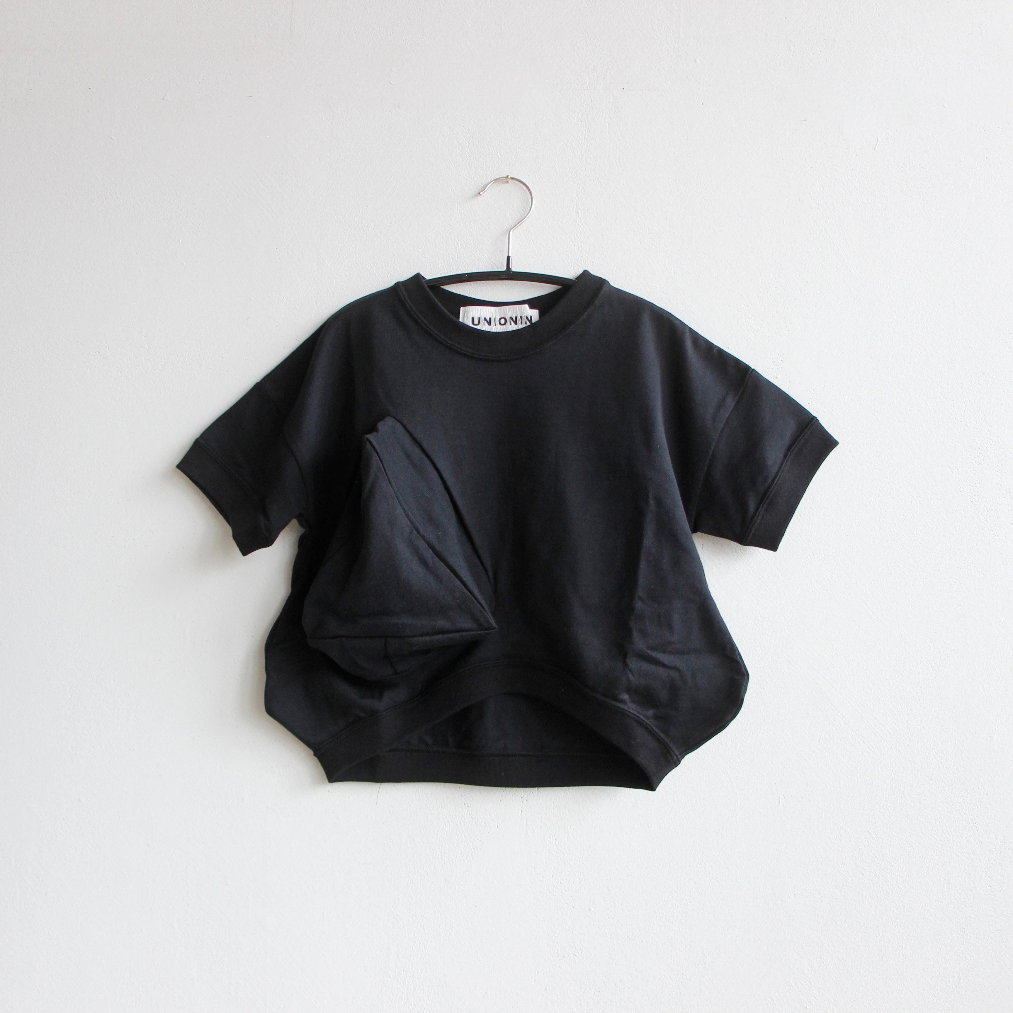 《UNIONINI 2020SS》◯△ T-shirt / black