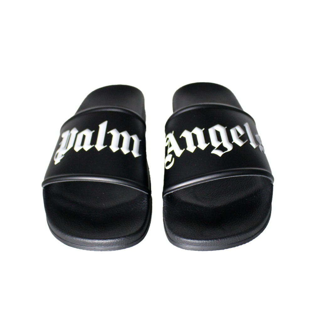 PALM ANGELS Pool Slider Black/White