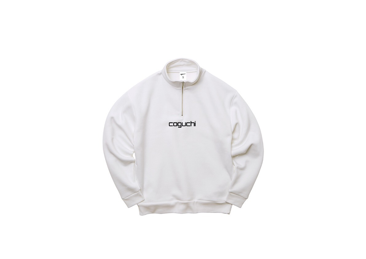 coguchi H-ZIP sweat (WHT)