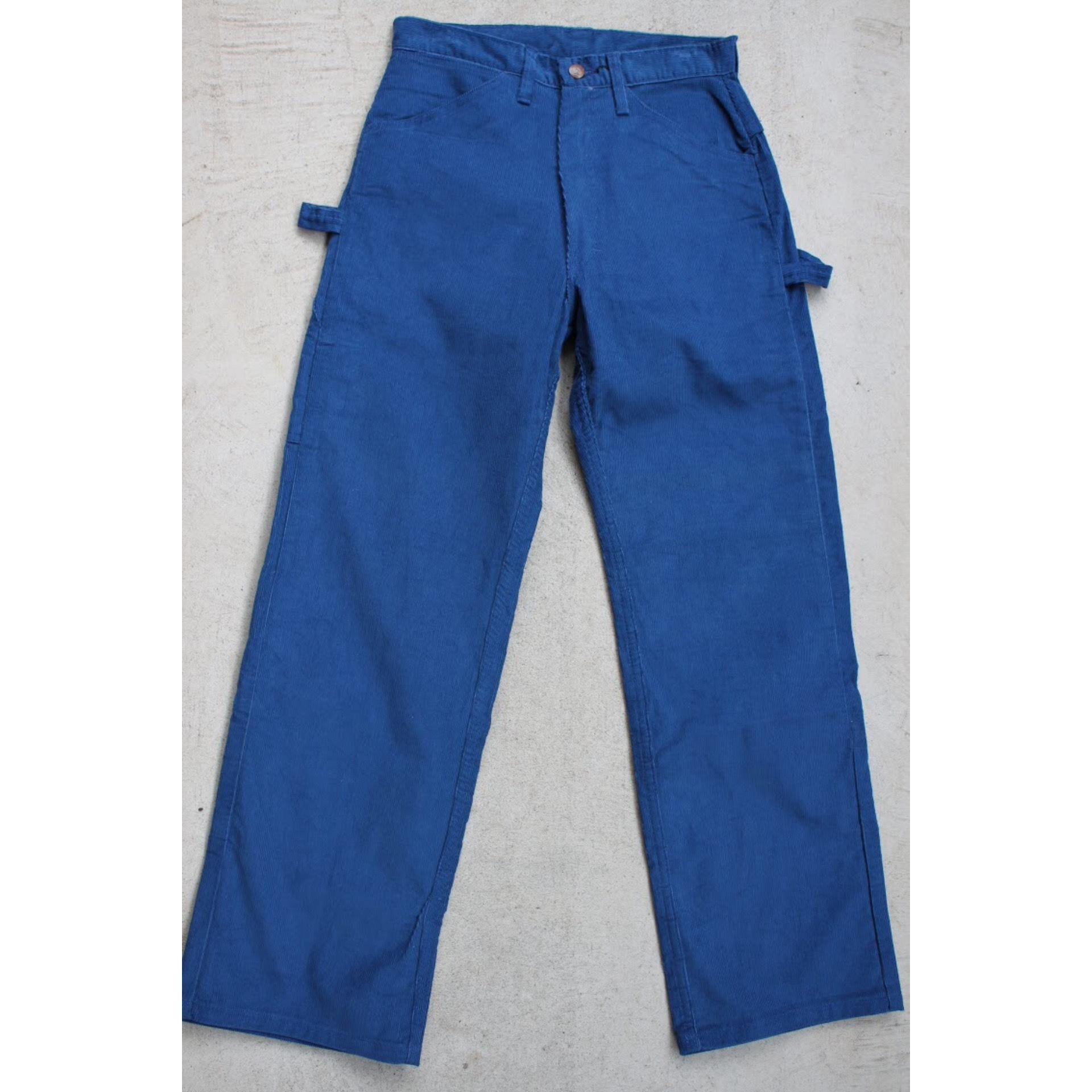 Vintage blue corduroy painter pants