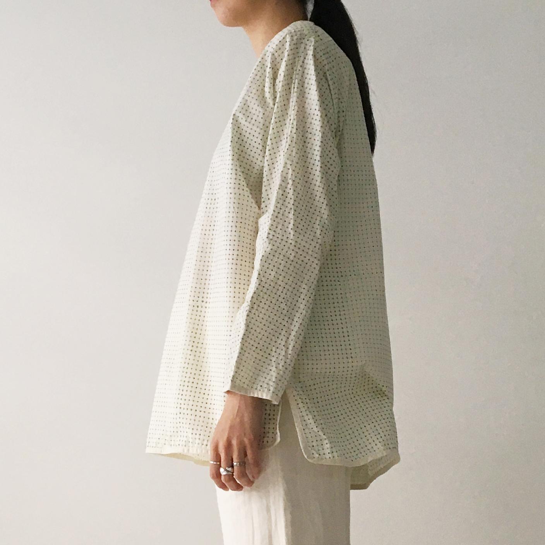 "Over Size Pullover ""Block print geometric"" organic cotton"