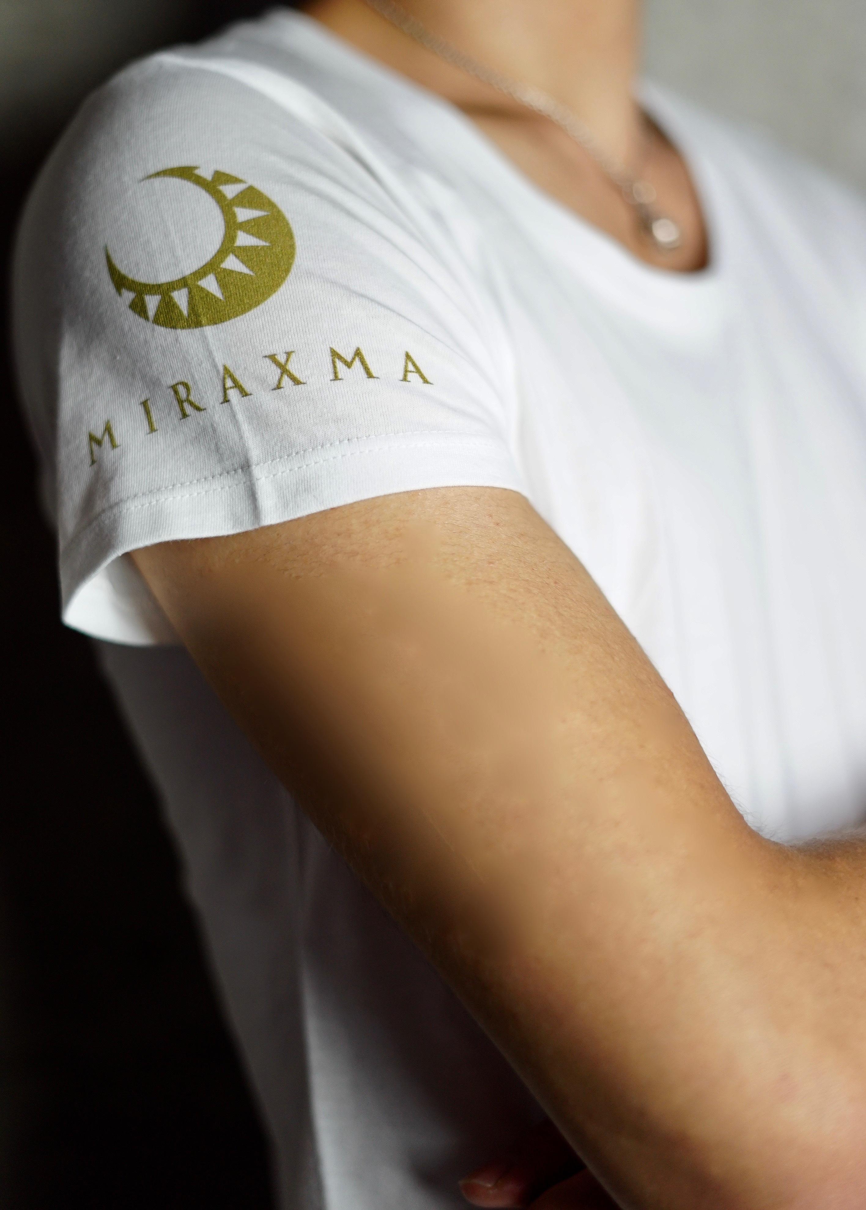 【限定モデル】半袖/ホワイト/右肩ゴールド | MIRAXMA-ミライイマ-