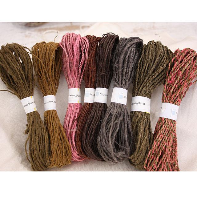 【お買い得品】ネパールヘンプ草木染め 10m8本セット(ネコポス発送可能)