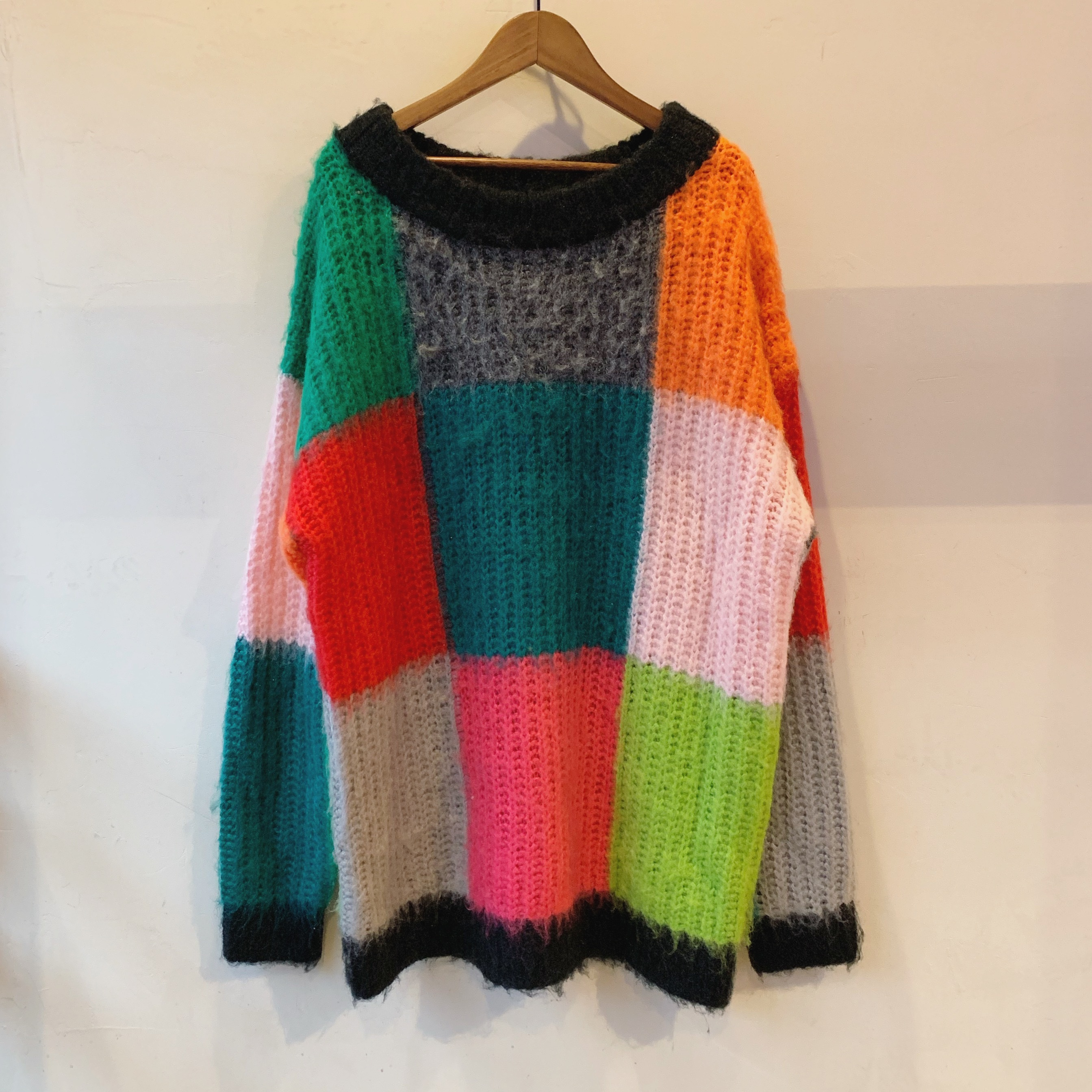 vintage colorful knit sweater
