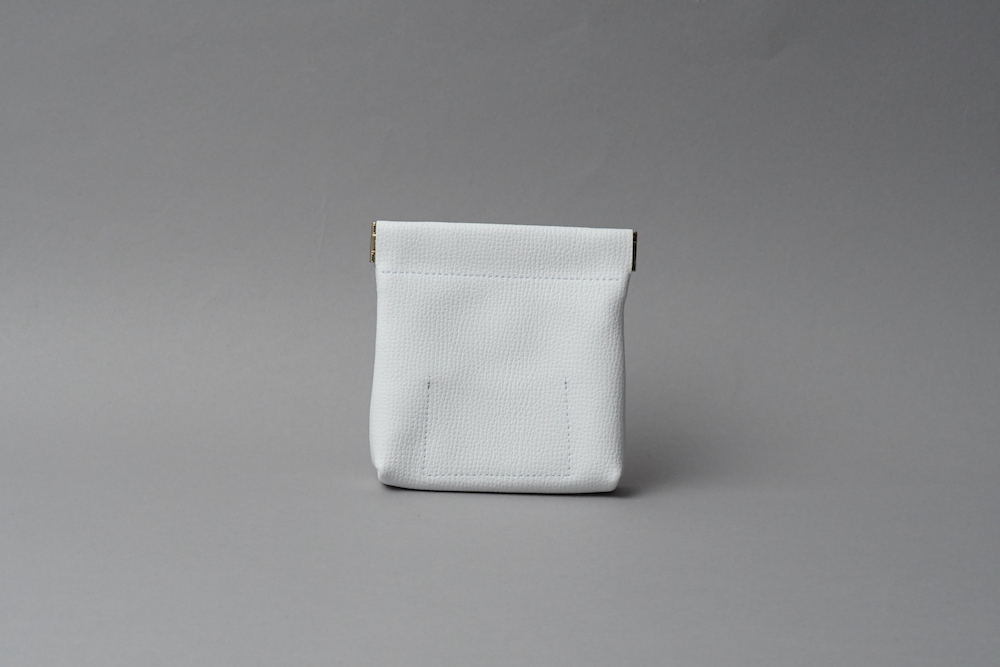 ワンタッチ・コインケース ■ホワイト・ベージュアプリコット■ - 画像2