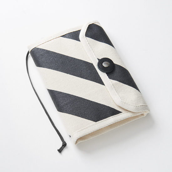 book jacket/black x stripe, scale, dot 文庫本カバー / 墨 x 縞・鱗・水玉