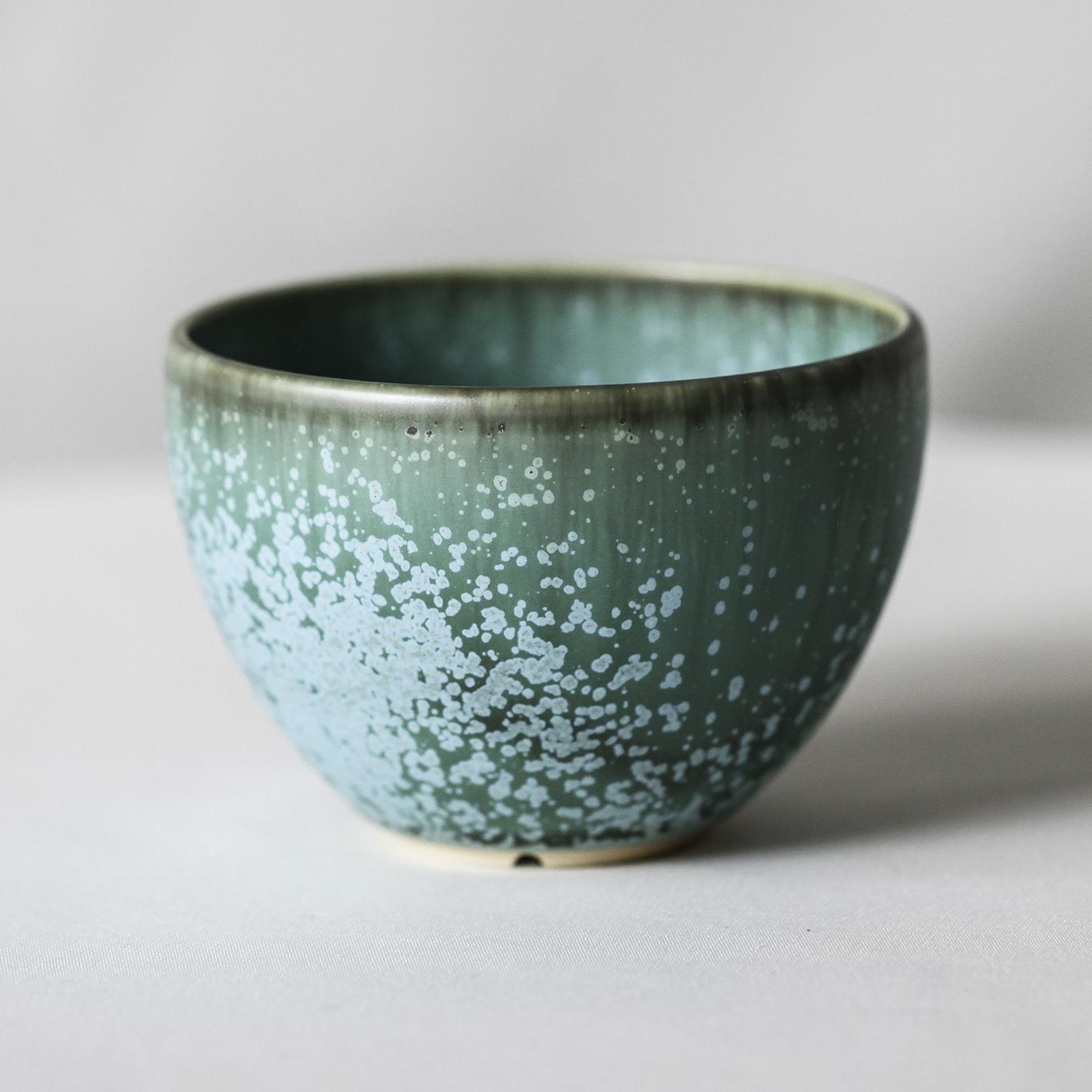 Turquoise glaze bowl pot(M)