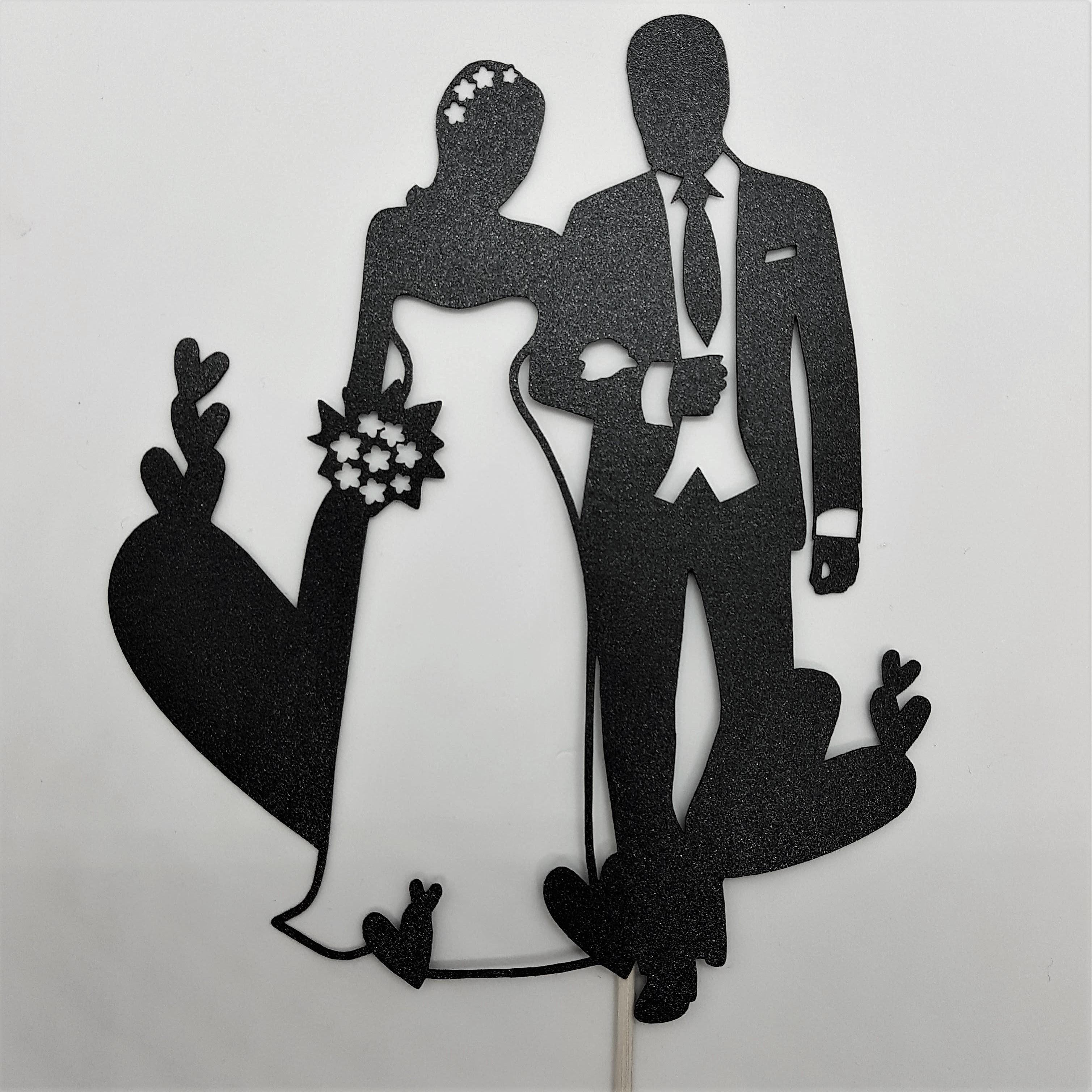 ケーキトッパー(ウェディング02)‐Wedding cake topper -