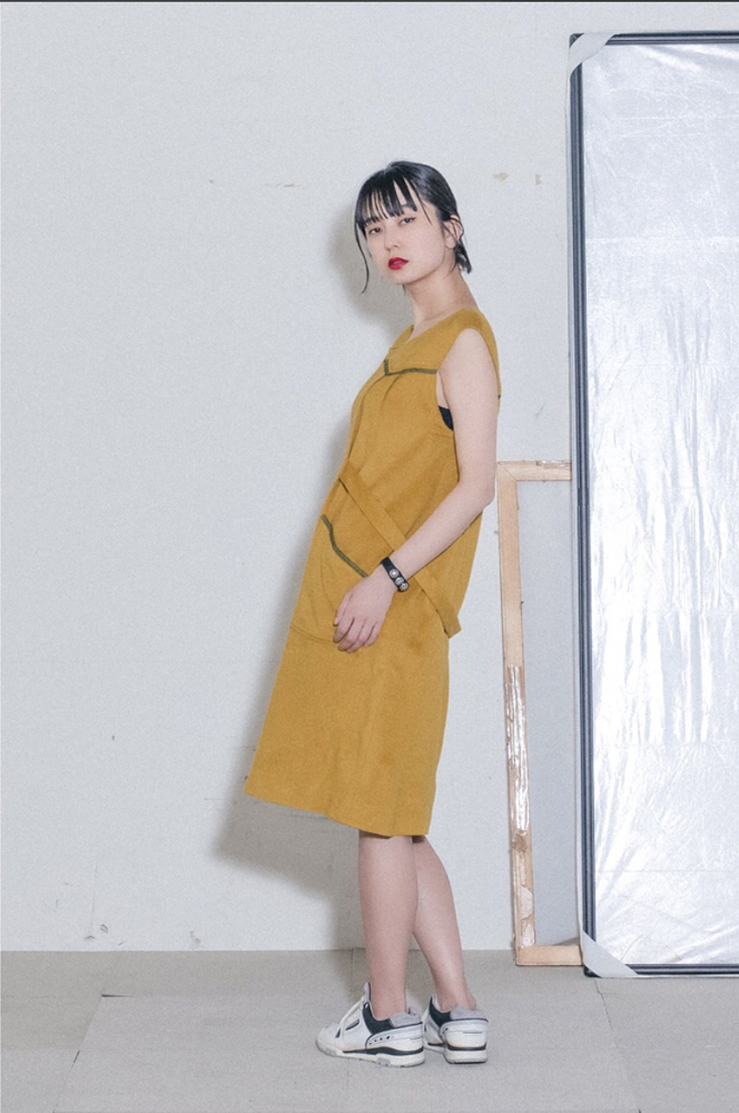 80's Cashmere Yellow Dress