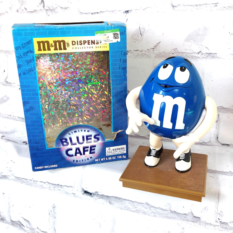 品番4998 M&M'S ディスペンサー BLUES CAFE チョコレートディスペンサー サーバー ブルー 外箱付き ヴィンテージ