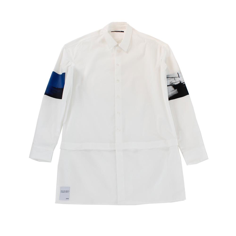 ALMOSTBLACK Printed Shirt White