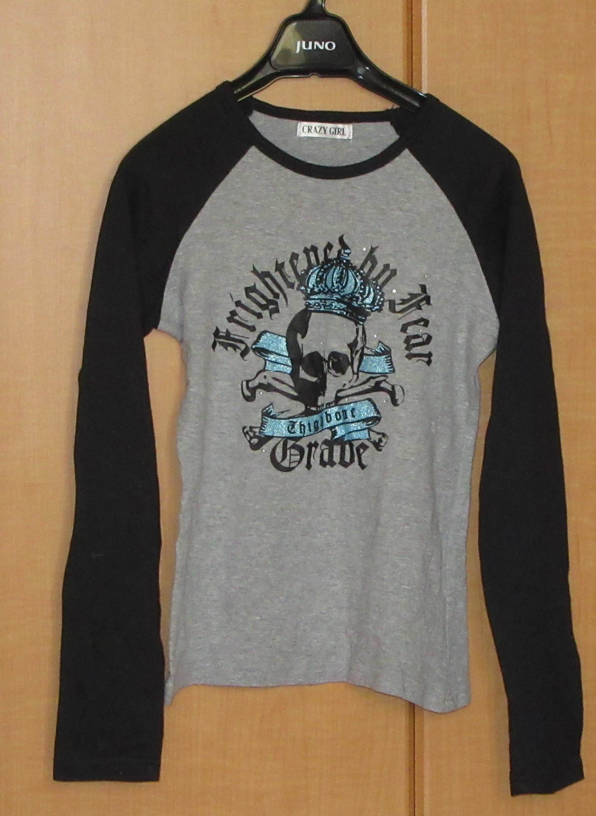 Tシャツ ドクロ CRAZY GIRL リセール商品