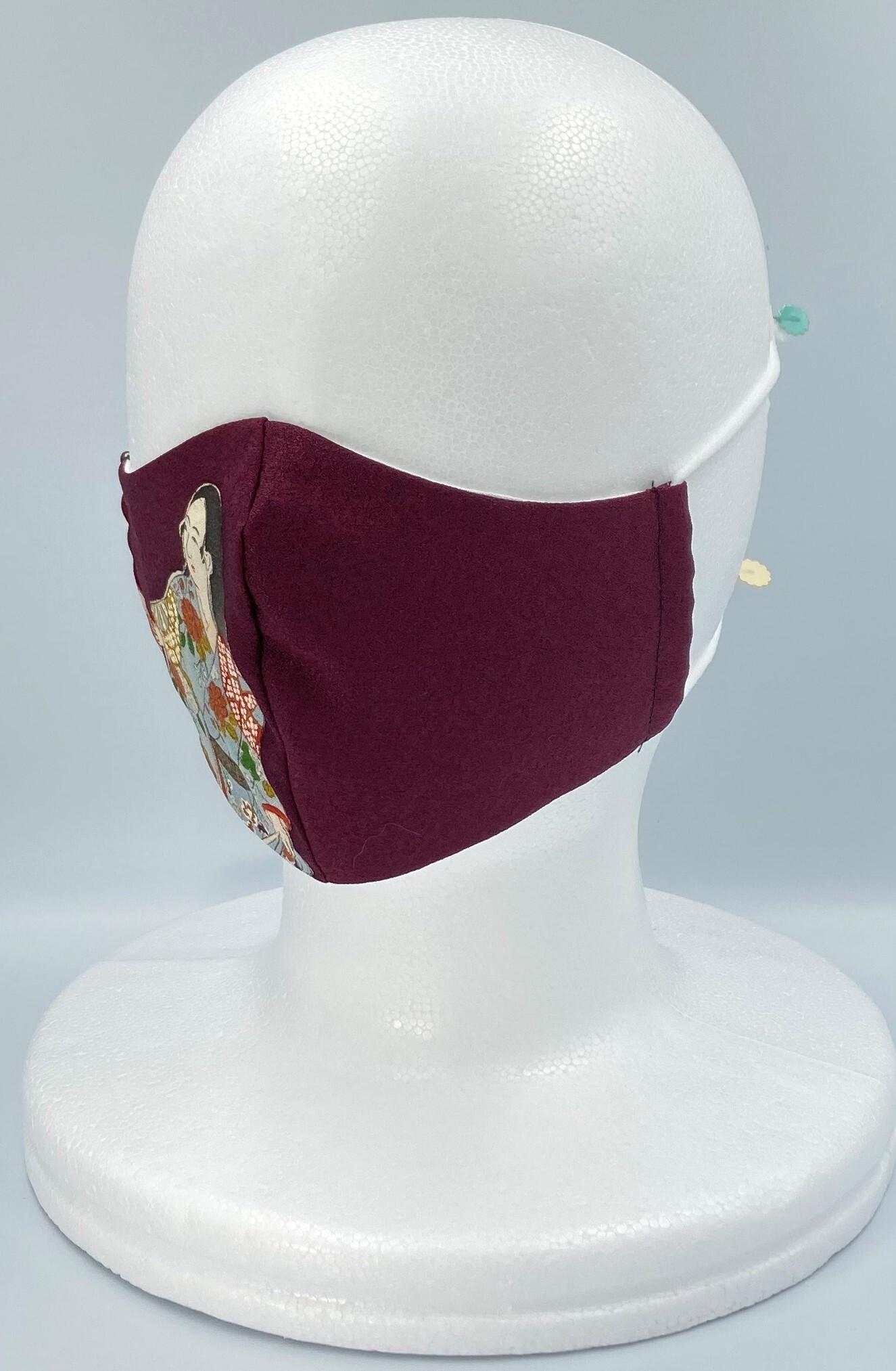 リメイク着物マスク A018